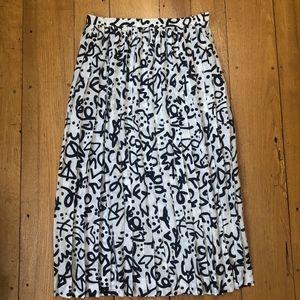 Liz Claiborne 80s/90s Squiggle Print Pleated Skirt